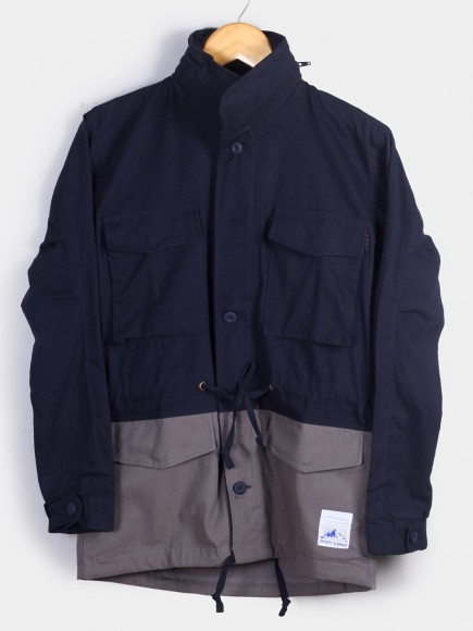 NAVY 'OSLO' CANVAS PARKA