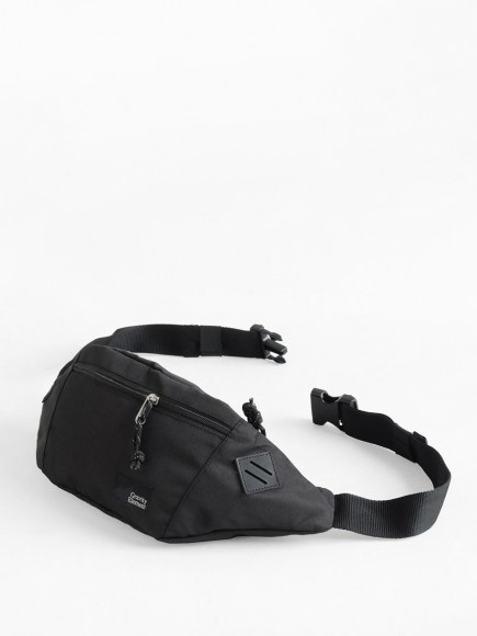 "BLACK ""RUNNER"" WAISTPACK"