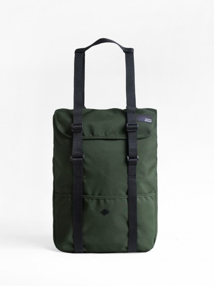 "GREEN ""WANDER"" TOTE BAG + BACKPACK"