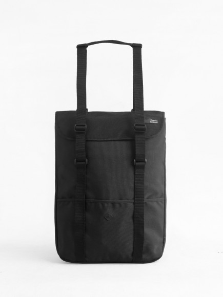 "BLACK ""WANDER"" TOTE BAG + BACKPACK"