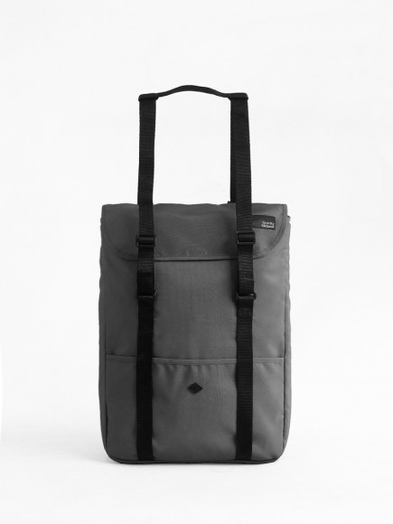 "GREY ""WANDER"" TOTE BAG + BACKPACK"