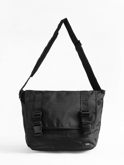 "BLACK ""PROJECT"" MESSENGER BAG"
