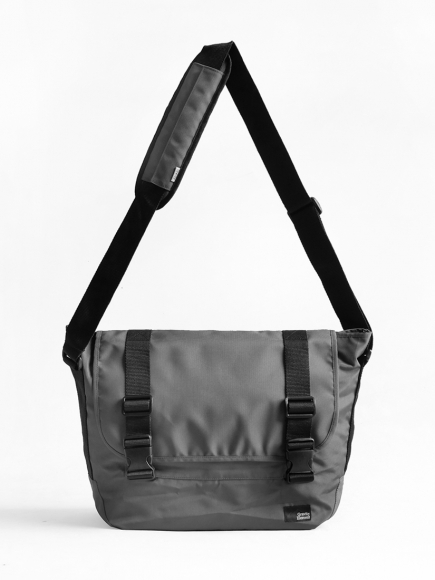 "GREY ""PROJECT"" MESSENGER BAG"