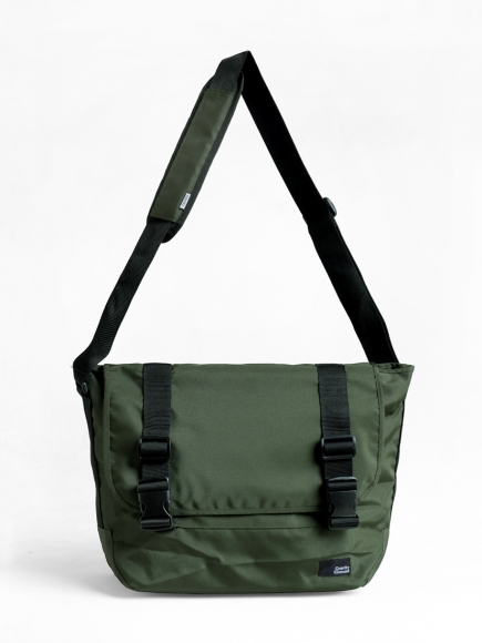 "GREEN ""PROJECT"" MESSENGER BAG"