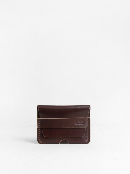 "BROWN ""TOPO"" CARD CASE"