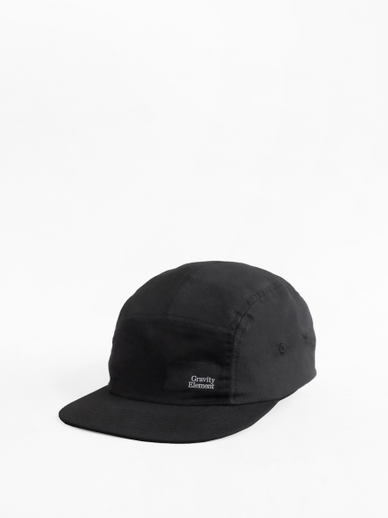 BLACK 'WINTER' NYLON 5-PANEL CAP