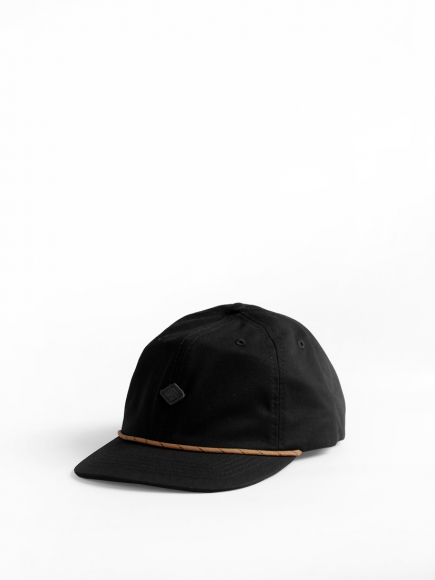 BLACK 'CLIFF' POLO CAP