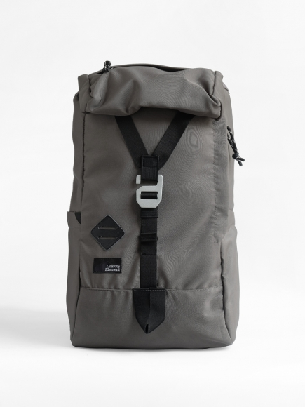 "GREY ""KERINCI"" FLAP BACKPACK"