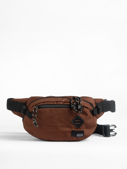 "BROWN ""VELO"" CROSS-BODY BAG"