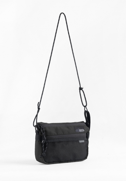 "BLACK ""FOLK"" SMALL SLING BAG"