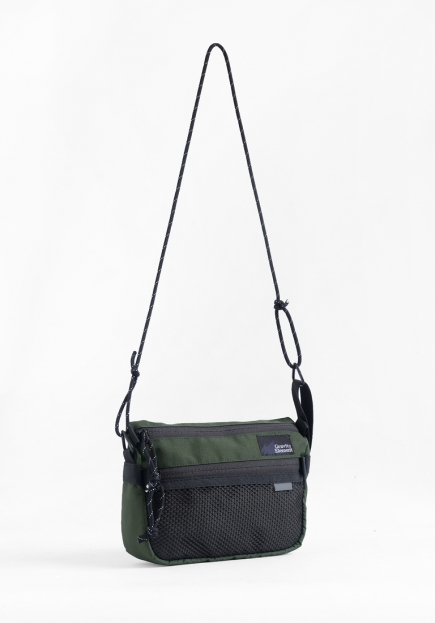 "GREEN ""FOLK"" SMALL SLING BAG"