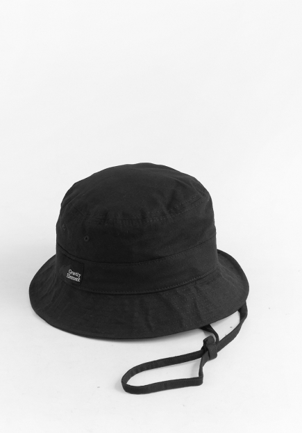 BLACK 'KOMOOT' BUCKET HAT
